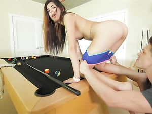 Pool Playing Teen Fucked By His Big Cock