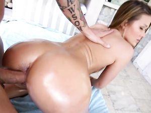Big Booty Chick In A Shiny Bikini Fucked Hard