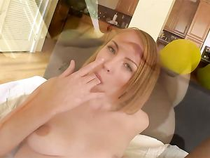 Green Eyed Teenager Sucks And Fucks A Big Dick