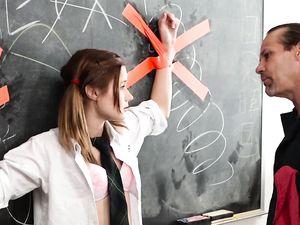Sub Teen Schoolgirl Fucked Roughly By The Teacher