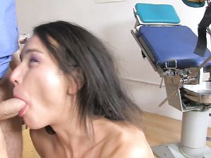 Doctor Pushing Big Cock Into Her Young Asshole