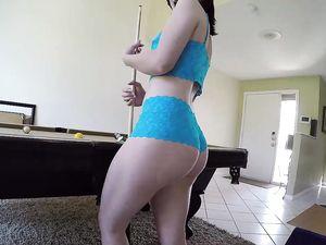 POV Fucking Of A Cute Ass Teen In Blue Lingerie