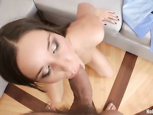Dildo Stretches Her Before His Big Cock Takes Over
