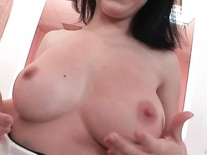 Asshole Of A Busty Girl Stretched By Double Penetration