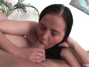 Massive Natural Boobs On His Horny Anal Babe