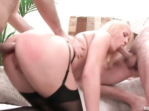 Amazing Natural Titties On A Double Penetration Slut