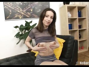 Sheer Top Teen Wants Toys And Cock In Her Pussy