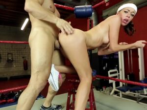 Boxing Ring Beauty Fucked And Facialized