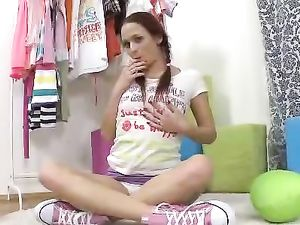Sporty Teen In A Miniskirt Fucked In Her Bald Cunt