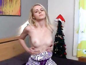 Blonde Girl Next Door Does A Sexy Striptease