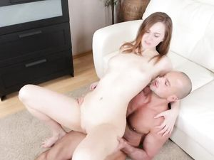Injecting Cum Into Her Teen Pussy From Behind