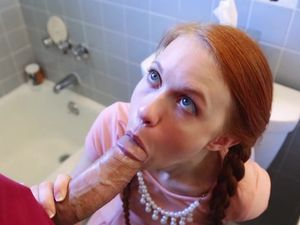 Huge Dick And A Tiny Redheaded Cutie Fucking