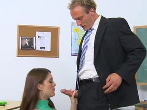 Sluttiest Girl In School Fucks Her Teacher