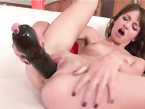 Toy Fucking Teen Spreads Her Legs Wide Open
