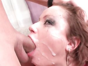 Messy Gagging Blowjob Makes Her Eye Makeup Run