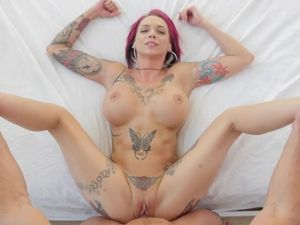 Inked Pink Hair Pornstar Anna Bell Peaks Wants To Get Laid