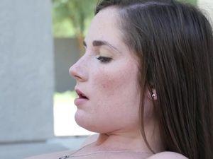 Freckled Teen Dream Girl Worships Big Cock Poolside