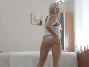 Masseur Slides Hard Cock Into A Teenage Blonde