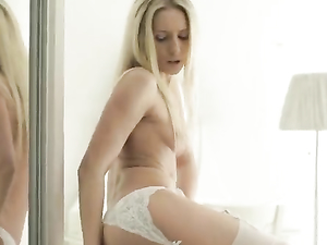 Sexy Garter Belt And Stockings On A Solo Goddess