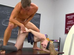Avril Hall Is The Schoolgirl Slut Of His Dreams