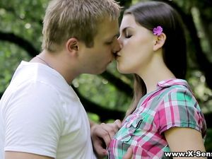 Lovemaking In The Forest With A Beautiful Teen