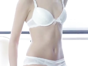 White Underwear Is Sexy On The Skinny Teen